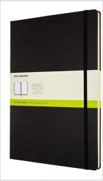 Moleskine Classic Plain Paper Notebook, Hard Cover and Elastic Closure Journal, Size A4 21 x 29.7 cm - Black Colour (Hardcover)
