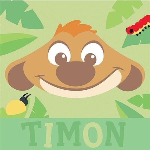일러스트 티몬 캐릭터 그리기 (25*25) 라이온킹 유화 그림 디즈니 아이러브페인팅