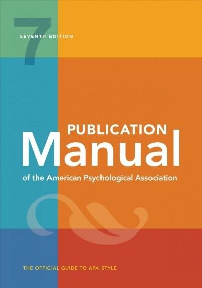 Publication Manual of the American Psychological Association (Paperback, Spiral, 7)