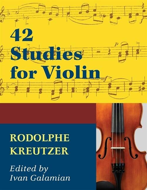 42 Studies for Violin by Rodolphe Kreutzer (Paperback)