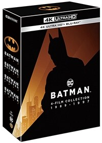 [4K 블루레이] 배트맨 4 : Movie 1989-1997 콜렉션 아웃박스 (8disc: 4K UHD + 2D)