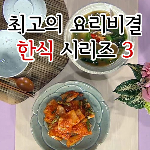 EBS 최고의 요리비결 한식 시리즈 3 (25disc)