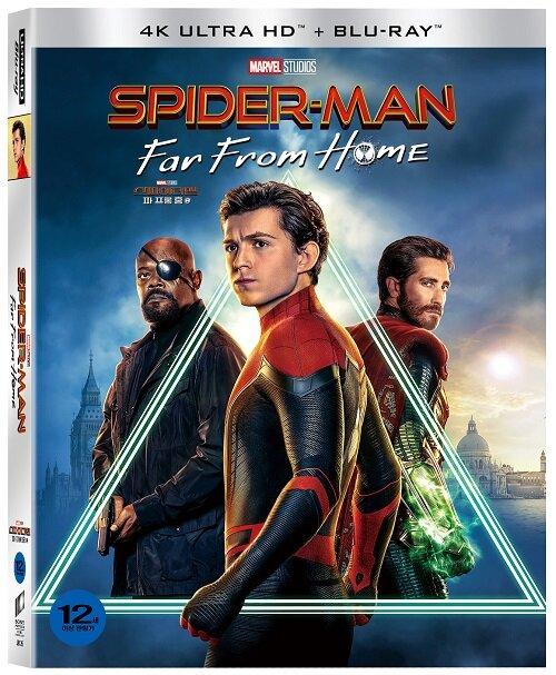 [4K 블루레이] 스파이더맨 : 파 프롬 홈 - 초회 한정 슬립케이스 (3disc: 4K UHD + 2D + 보너스BD)