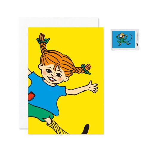 삐삐 롱스타킹 엽서+우표 세트