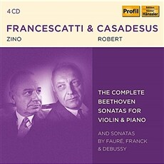 [수입] 베토벤: 바이올린 소나타 전곡  / 프랑크, 드뷔시, 포레: 바이올린 소나타 [4CD]