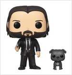 Pop John Wick in Black Suit with Dog Buddy Vinyl Figure (Other)