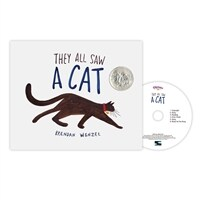 Pictory Set Pre-Step 70 : They All Saw a Cat (Hardcover + Audio CD)