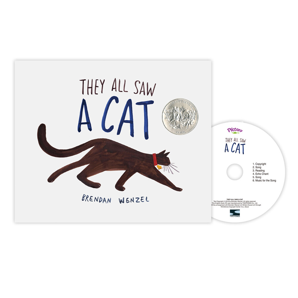 Pictory Set PS-70 / They All Saw a Cat (Hardcover + Audio CD)