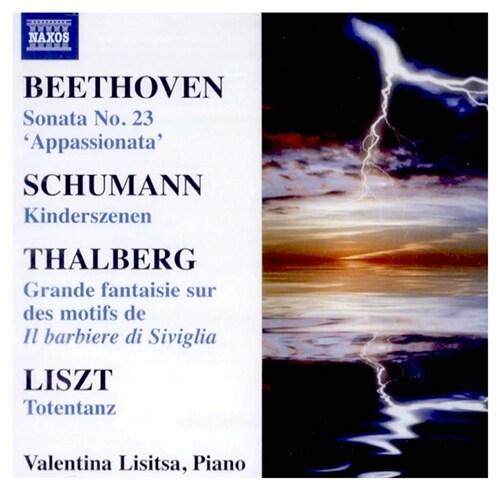 [수입] 리시차 - 베토벤 : 열정 소나타, 슈만 : 어린이 정경, 리스트 : 죽음의 춤 외