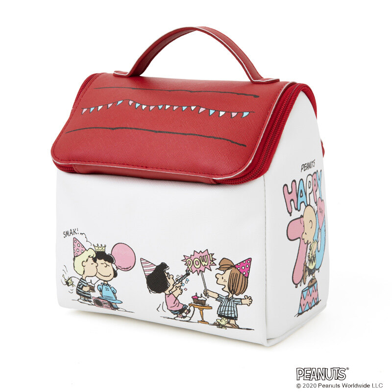 SNOOPY スヌ-ピ-ハウスの收納ポ-チ BOOK PEANUTS 70th LIMITED DESIGN