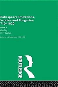 Shakespeare Imitations   Vol 2 (Hardcover)