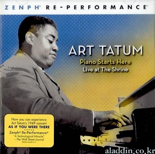 [수입] Art Tatum - Piano Starts Here : Live At The Shrine Zenph Re-Performance
