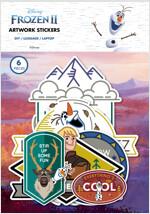 겨울왕국 2 아트웍 스티커 : 올라프와 친구들 (6종)