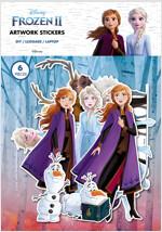 겨울왕국 2 아트웍 스티커 : 엘사와 안나 (6종)
