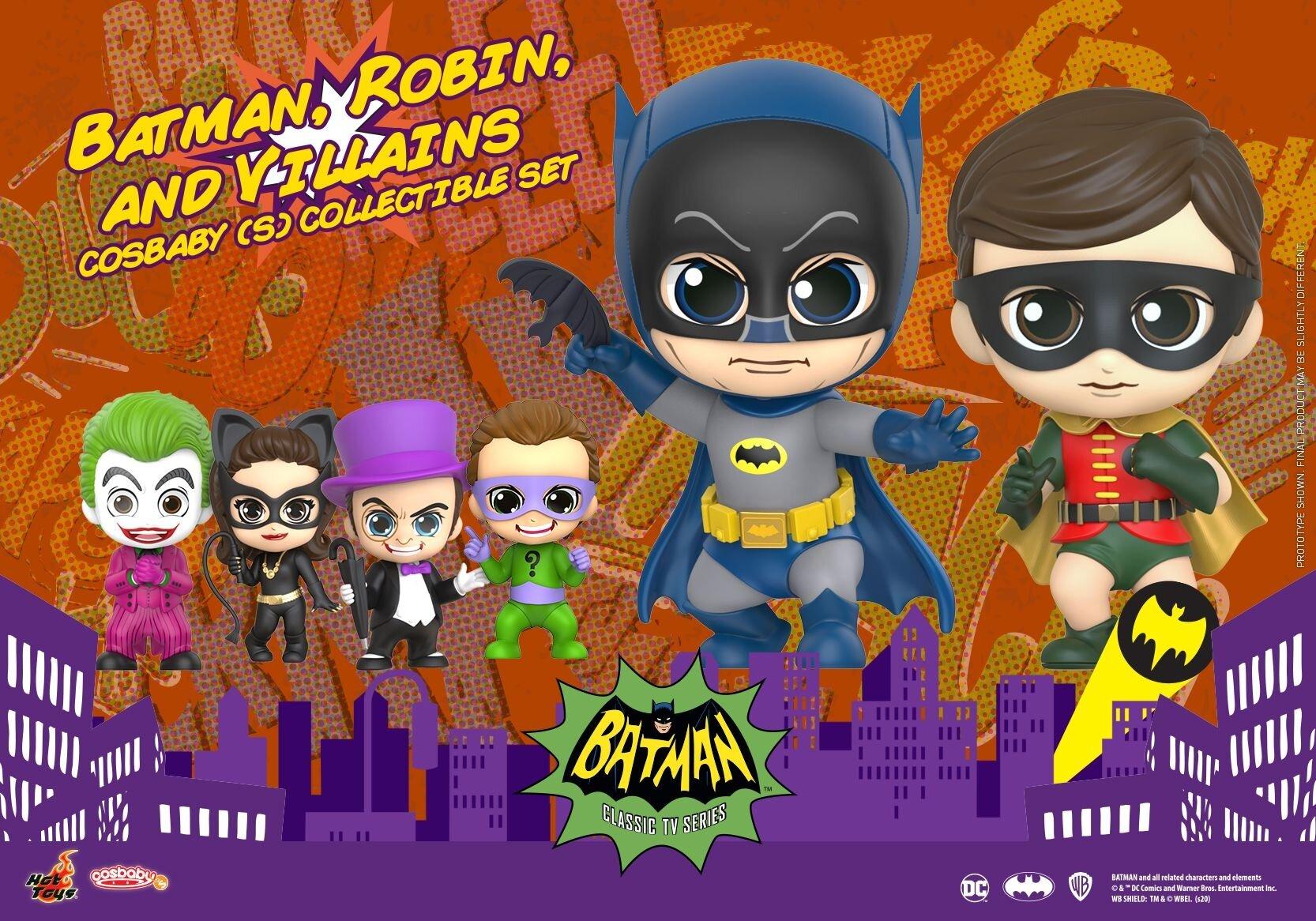 [Hot Toys] 코스베이비 배트맨 클래식 TV : 배트맨, 로빈&빌런들 S세트 COSB705