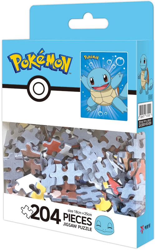 포켓몬스터 팬시 퍼즐 204PCS : 활기찬 꼬부기