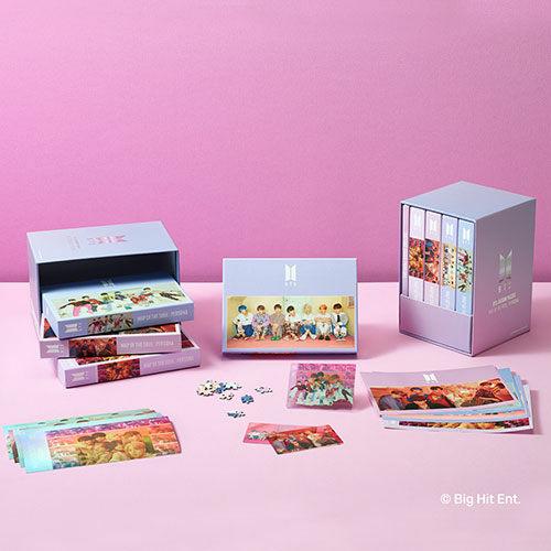 BTS 직소퍼즐 페르소나 4종 세트 (PET 인쇄 투명 포토카드 4종 + 홀로그램 특수 인쇄 엽서 4종 + 콘셉트 아트 스티커 4종 포함)