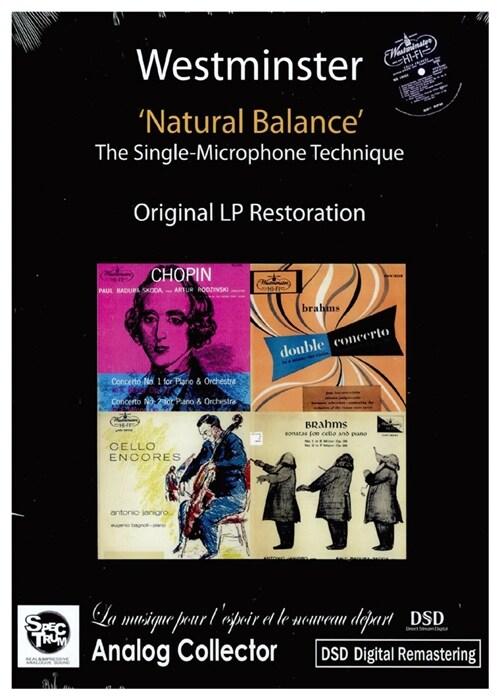 [수입] 미국 웨스트민스터 초반, 재반 LP복각 시리즈 - 내츄럴 밸런스 (야니그로 첼로 작품 수록) [DVD case Package 3 for 2]