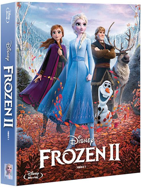 [블루레이] 겨울왕국 2 : 풀슬립 스틸북 한정판 (2disc: 2D + OST CD)