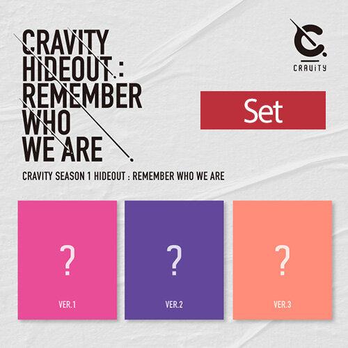 [SET] CRAVITY(크래비티) SEASON1. [HIDEOUT: REMEMBER WHO WE ARE] [버전 3종 세트]