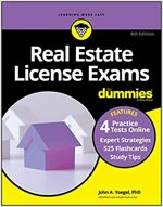 Real Estate License Exams for Dummies with Online Practice Tests (Paperback, 4th Edition)