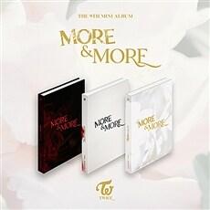 트와이스 - 미니 9집 MORE & MORE [버전 3종 중 랜덤발송](CD알판 9종 중 랜덤삽입)
