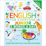 English for Everyone Junior: 5 Words a Day: Learn and Practice 1,000 English Words (Paperback)