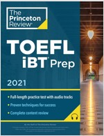 Princeton Review TOEFL IBT Prep with Audio/Listening Tracks, 2021: Practice Test + Audio + Strategies & Review (Paperback)
