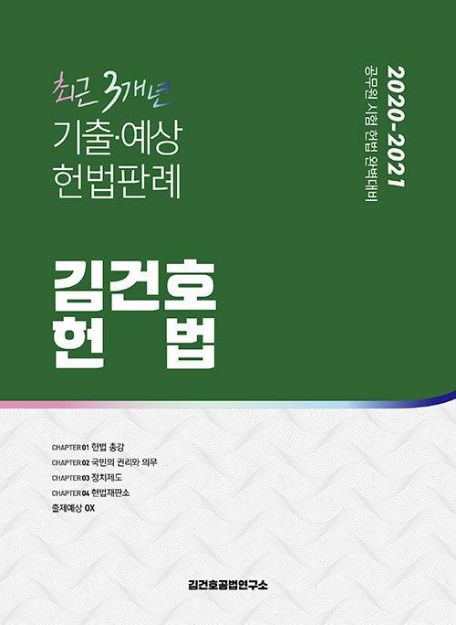 2020~2021 김건호 헌법 최근 3개년 기출.예상 헌법판례