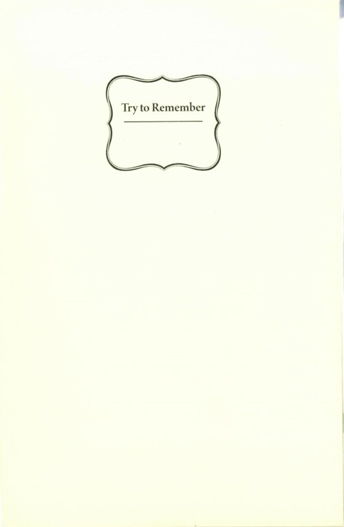 Try To Remember (다이어리 + 스티커)