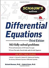 [중고] Schaums Outline of Differential Equations