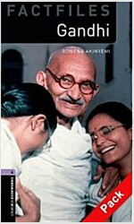 Oxford Bookworms Library Factfiles: Level 4:: Gandhi audio CD pack (Package)