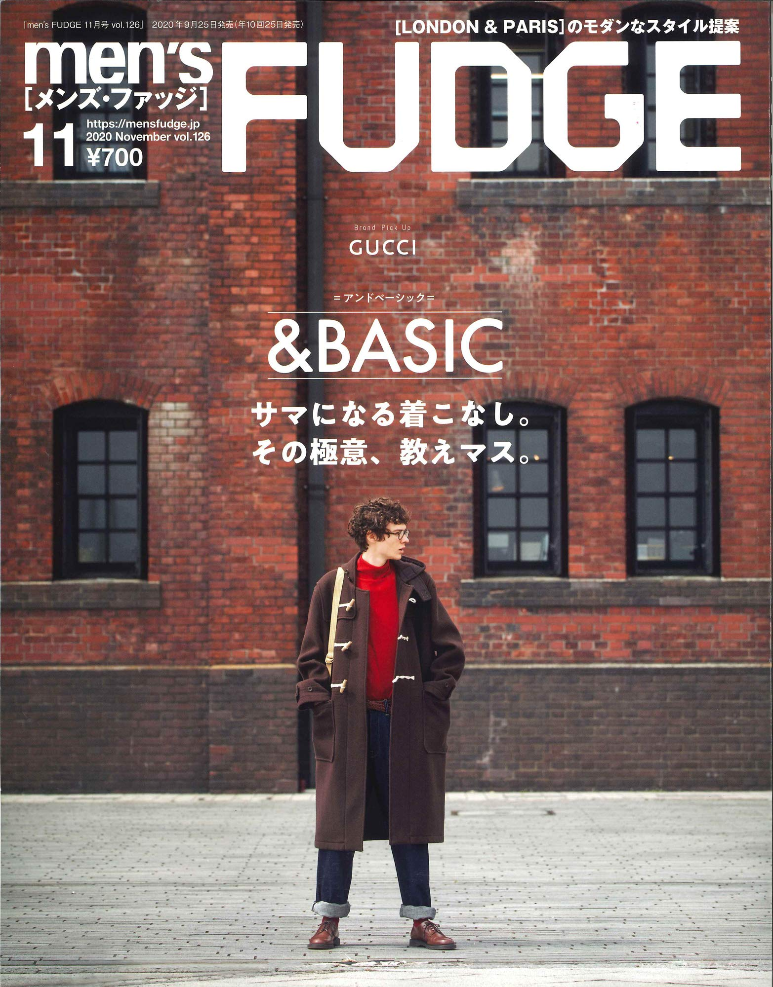 men's FUDGE 2020年 11月號