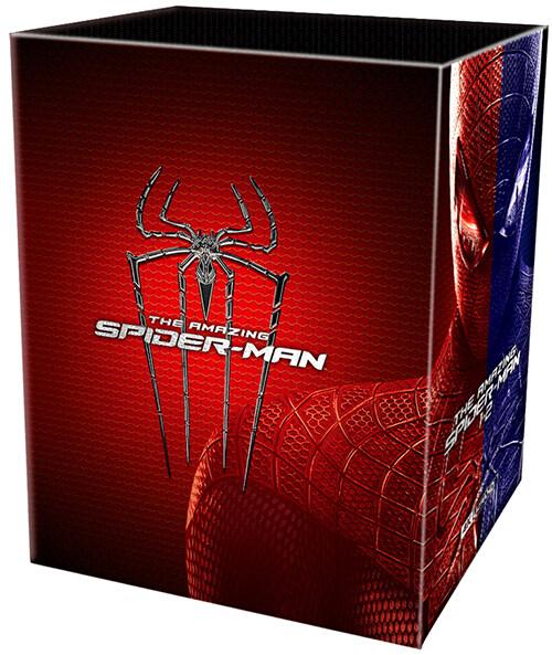 [4K 블루레이] 어메이징 스파이더맨 1+2 원클릭 박스 : 스틸북 한정판 (12disc: 4K UHD + 3D + 2D + 보너스BD)