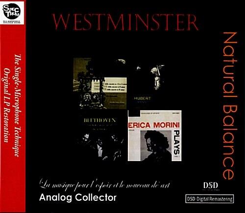 [수입] 미국 웨스트민스터 초반, 재반 LP복각 시리즈 - 내츄럴 밸런스 (야니그로/장 푸르니에/바두라-스코다의 베토벤 대공트리오 수록) [4CD Jewel Case]