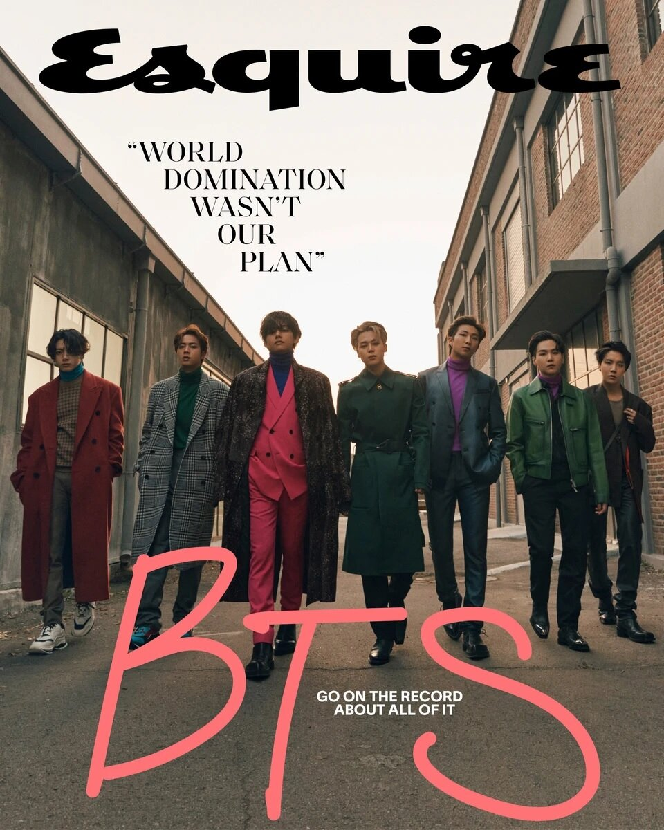 Esquire (월간 미국판): 2020/21년 Winter : BTS (방탄소년단) 커버