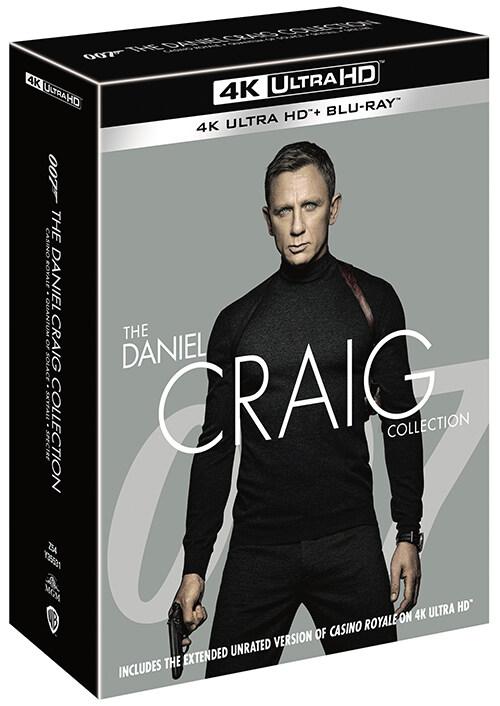 [4K 블루레이] 다니엘 크레이그 4-Movie 콜렉션 (8disc: 4K UHD + 2D)