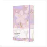 Moleskine Limited Edition Sakura Notebook, Large, Plain, Pink/Purple, Hard Cover (5 X 8.25) (Hardcover)