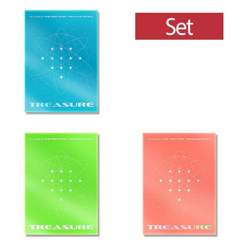 [세트] TREASURE 1st ALBUM [THE FIRST STEP : TREASURE EFFECT][Blue+Green+Orange Ver.]