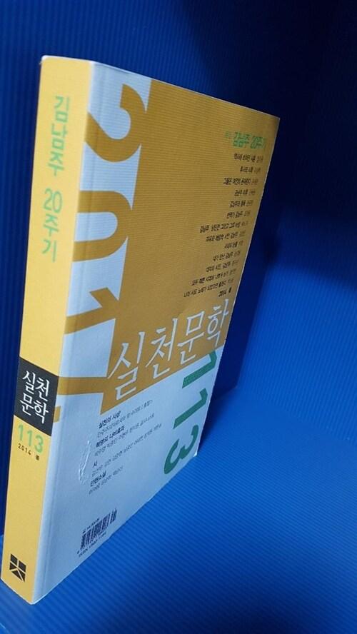 [중고] 실천문학 113 - 2014.봄