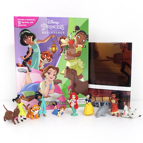 Disney Princess Beginnings My Busy Books 디즈니 프린세스 비기닝 비지북 (미니피규어 10개 + 놀이판)