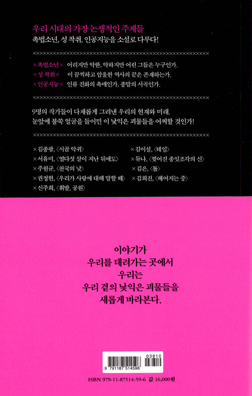 낯익은 괴물들 : 테마소설-촉법소년×성 착취×인공지능