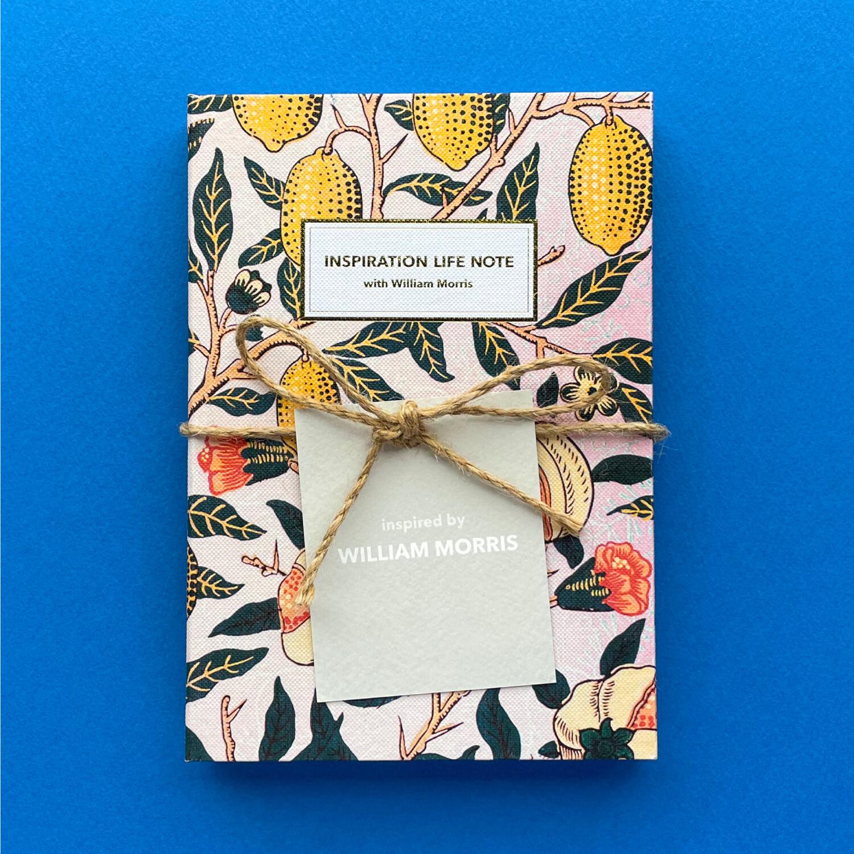 윌리엄 모리스 영감 라이프 노트 Inspiration Life Note with William Morris