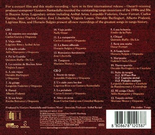 부에노스 아이레스 탱고 카페 O.S.T. - 카페 데 로스 마에스트로스 [2CD Deluxe Edition]