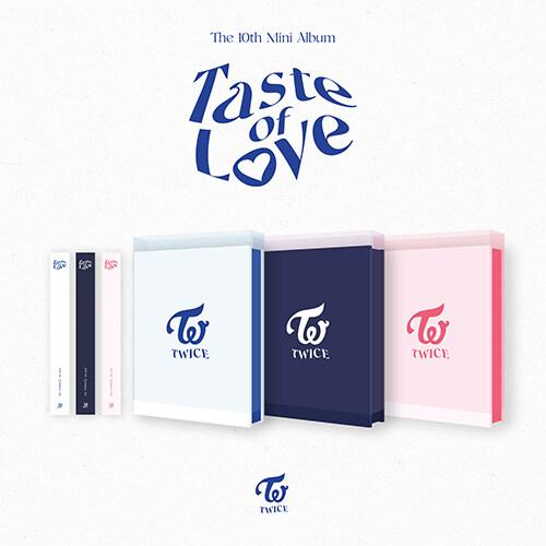 트와이스 - 미니 10집 Taste of Love [버전 3종 중 랜덤발송](CD알판 9종 중 랜덤삽입)