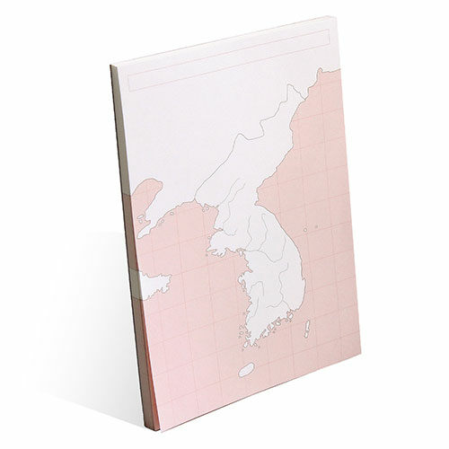 한국지도 : 혼자공부 지도 메모패드 (50매)