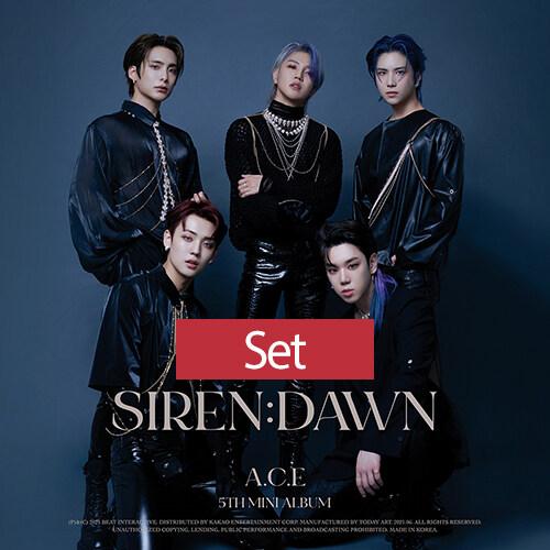 [SET] 에이스(A.C.E) - 미니 5집 SIREN : DAWN [SUN+ECLIPSE+MOON Ver.]