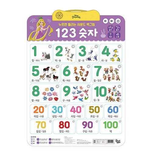 디즈니 프린세스 누르면 들리는 사운드 벽그림 : 123 숫자