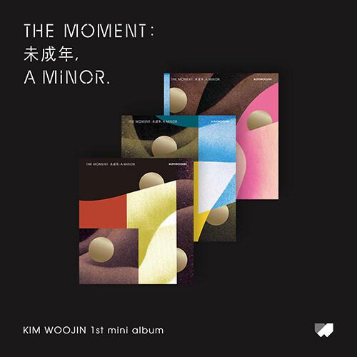 [세트] 김우진 - The moment : 未成年, a minor. [A+B+C Ver.]