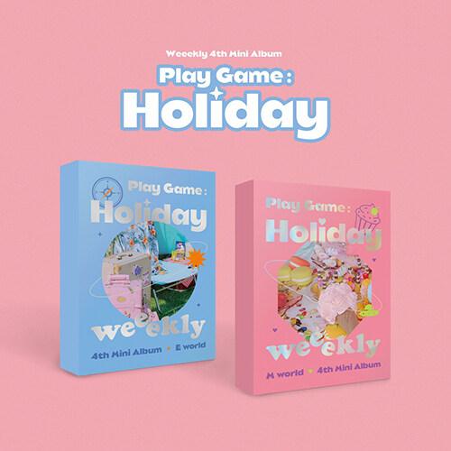 [세트] 위클리 - 미니 4집 Play Game:Holiday [E world+M world Ver.]